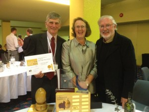 Andrew Jamieson from Golden Creek Olives, Helen & Peter Wright from Grassy Spur Olives