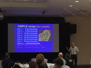 Paul Vossen - Emeritus Olive Consultant had delegates in awe learning about Growing Olives (secrets of the trade)
